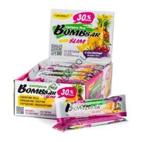 Протеиновый батончик BombBar Slim с Л карнитином  (35 гр) 10 гр протеина
