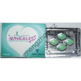 Виагра AlphaGra (Силданефил цитрат) Alpha Pharma 4 таблетки (1таб 100 мг)