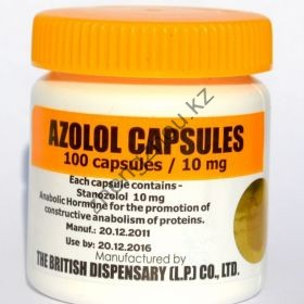 Azolol (Станозолол, Винстрол) British Dispensar 100 таблеток (1таб 10 мг)