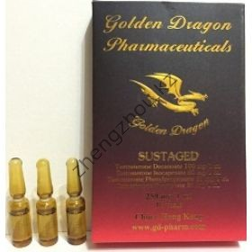 Сустанон (Sustaged) Golden Dragon 10 ампул по 1мл (1амп 250 мг)