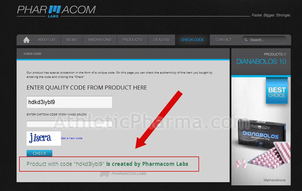 Проверка подлинности товаров Фармаком Лабс на сайте производителя